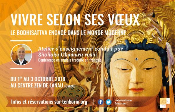 1 – 3 Oct Séminaire avec Shôhaku Okumura roshi – Vivre selon ses vœux