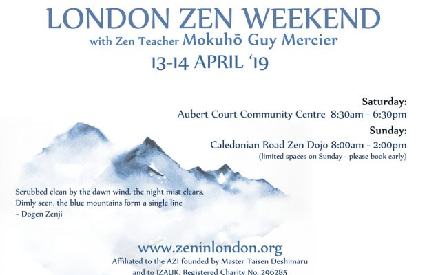 13-14 Avril – Weekend Zen à Londres avec Guy Mokuho