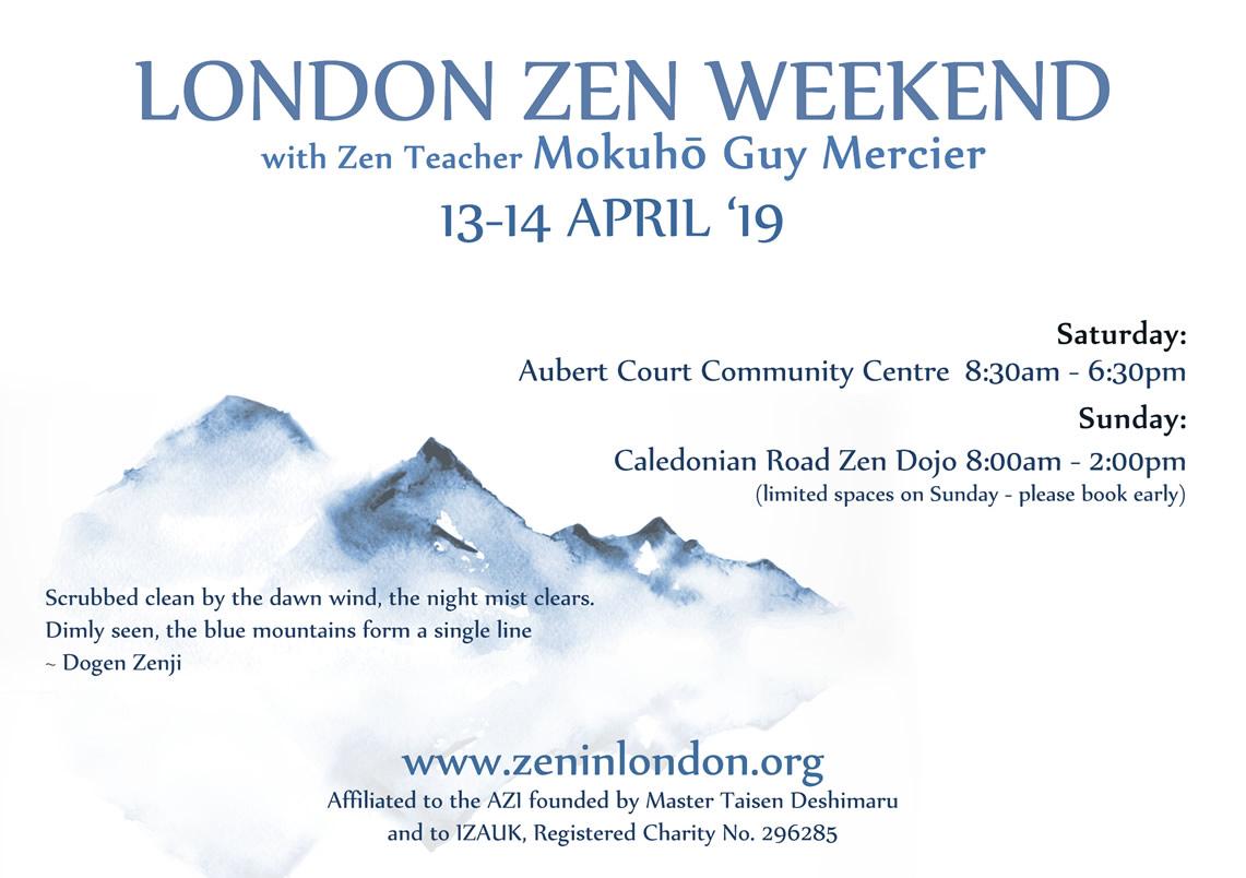 13-14 Avril – Weekend Zen à Londres avec Guy Mokuho