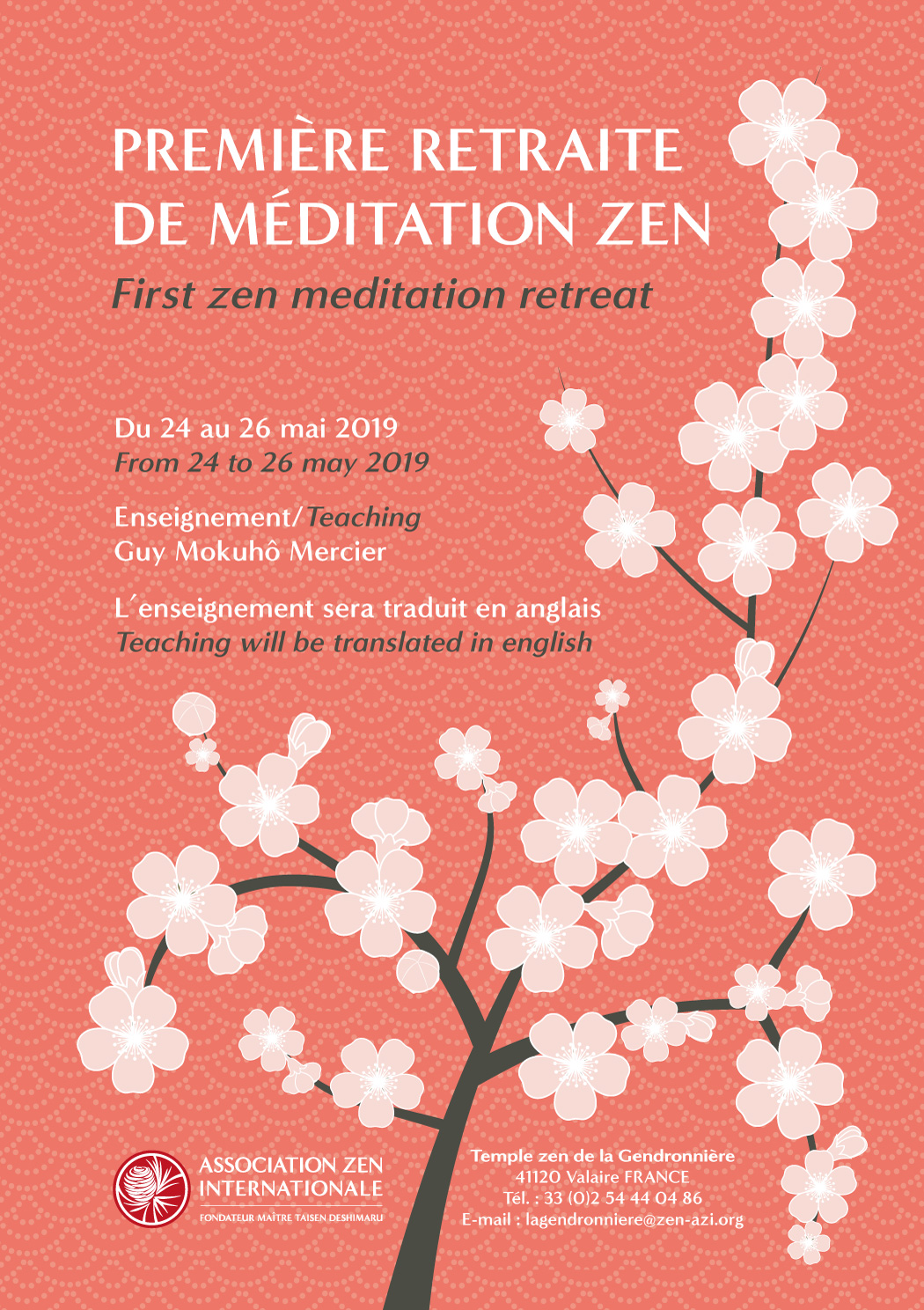 Du 24 au 26 mai – Première retraite de méditation zen – La Gendronnière
