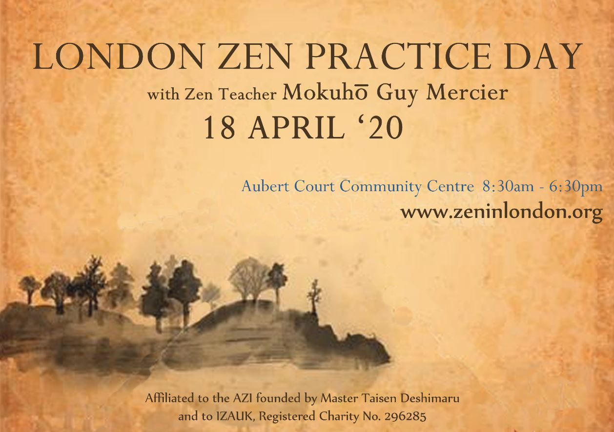 18 Avril – Journée Zazen à Londres (UK)