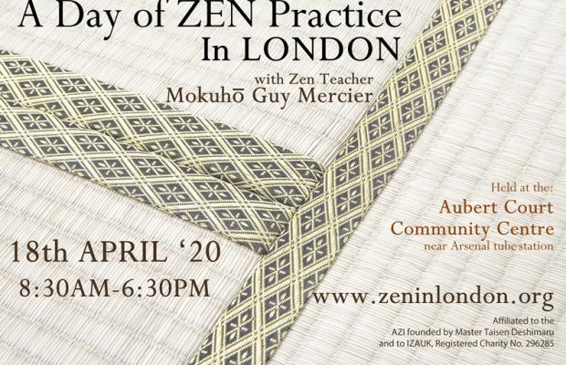 ANNULÉE // 18 Avril – Journée Zazen à Londres (UK)